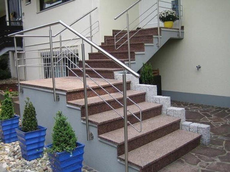 Odporne na uszkodzenia schody z naturalnego granitu